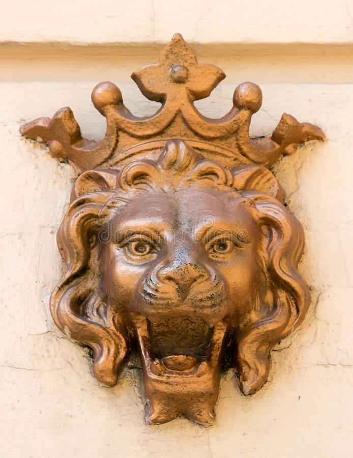 Sculpture lion royalty free stock images
