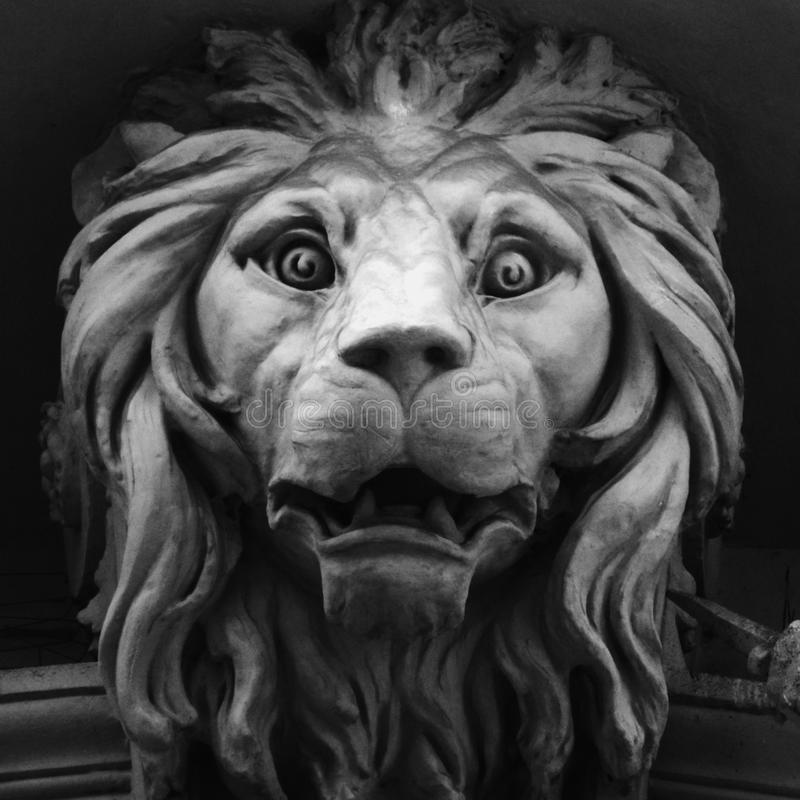 Sculpture of a lion as a symbol of strength and greatness stock photo