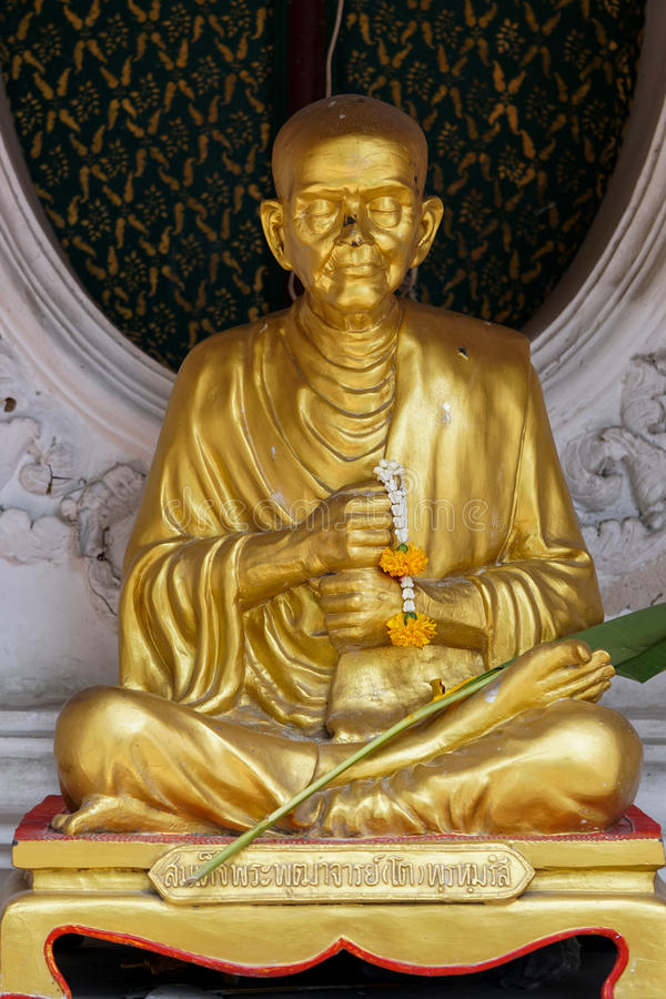 Sculpture of local Buddhist monk royalty free stock image