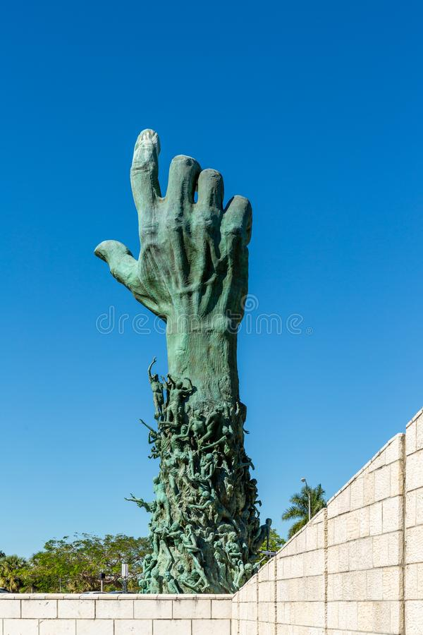 The Sculpture of Love and Anguish - Miami Beach stock photo