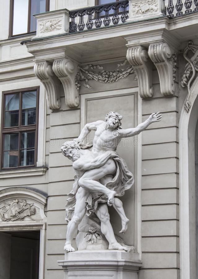 Sculpture at the main entrance. royalty free stock image