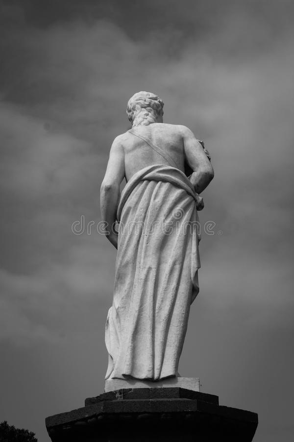 Sculpture. A marble sculpture in Vegueta, Las Palmas of Gran Canaria royalty free stock photo