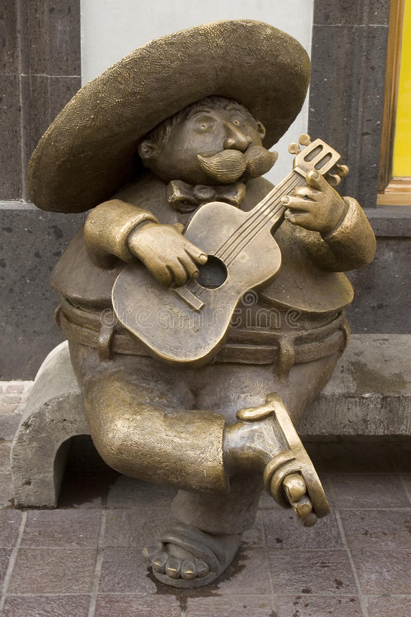 Sculpture of a mariachi stock photography