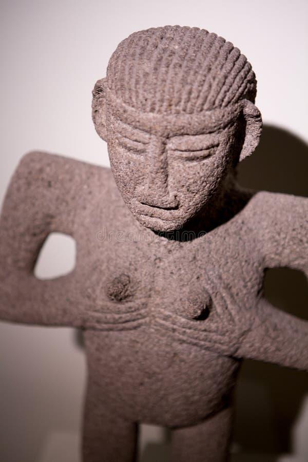 Sculpture maya trouvée en Costa Rica photos libres de droits