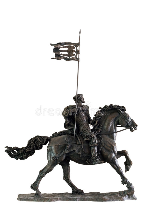 Download Sculpture Of The Medieval Soldier On A Horse Royalty Free Stock Image - Image: 6866146