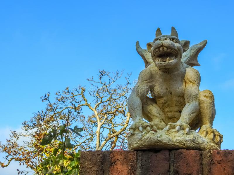 Sculpture of mythical creature stock photos