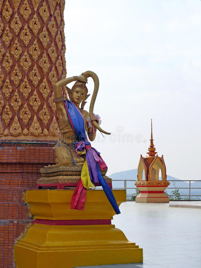 Sculpture mythical woman in Thailand royalty free stock photo
