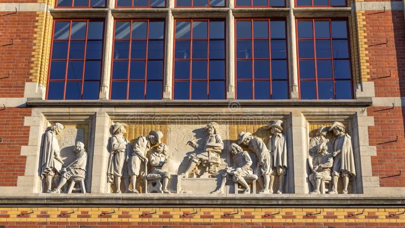 Sculpture national museum Amsterdam stock photo