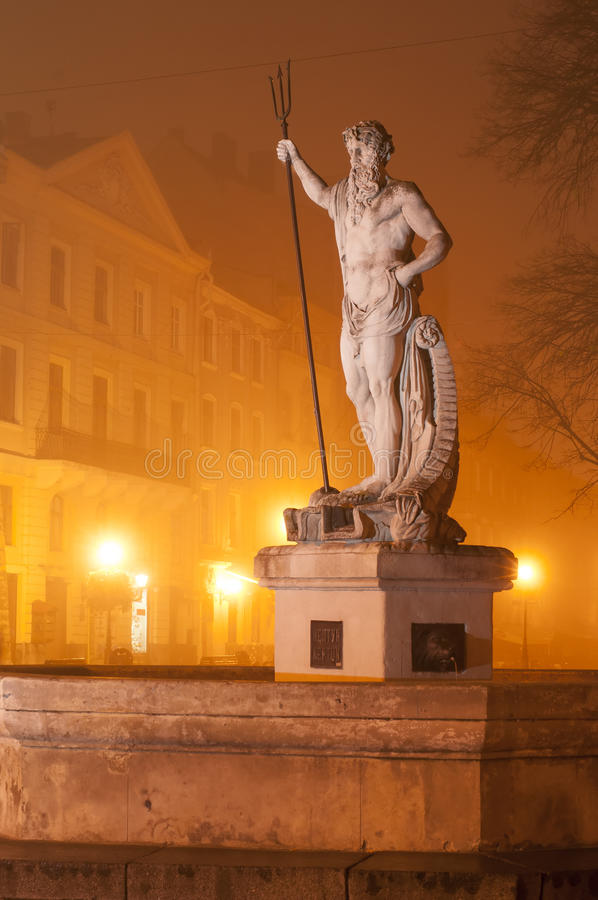 Download Sculpture of Neptune stock photo. Image of haze, lvov - 27496836