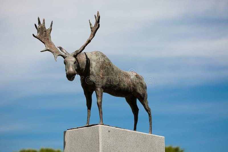 Sculpture Nida's Moose. Nida, Lithuania - June 24, 2012: Sculpture Nida's Moose, representing a local symbol in Nida, Lithuania on 24 June, 2012. Sculptor stock photo