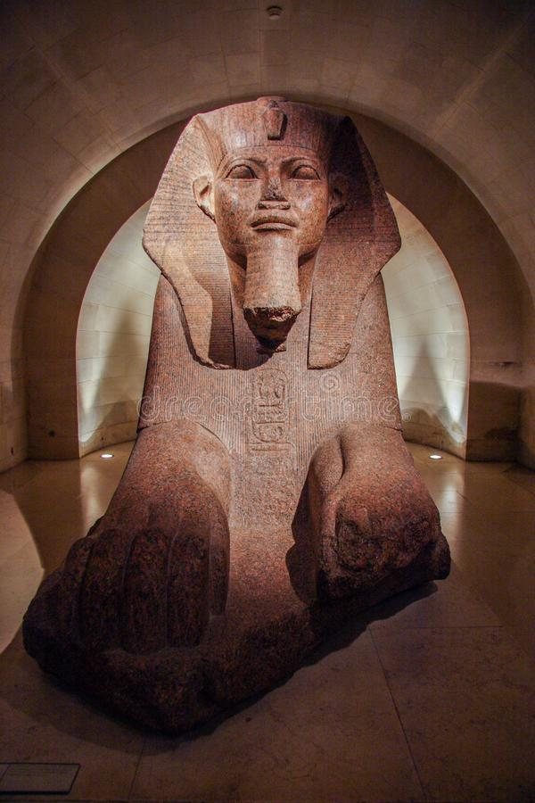 Free Sculpture Of Sphinx In The Louvre Museum. Sightseeing Of Louvre. Royalty Free Stock Photo - 133237145