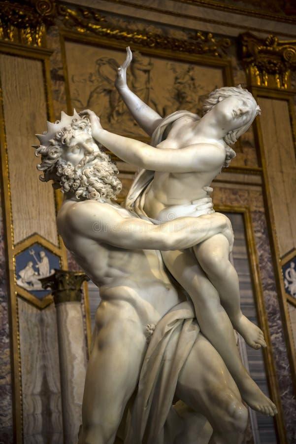 Sculpture par Gian Lorenzo Bernini dans la collection de Borghese en villa Borghese Rome Italie photographie stock