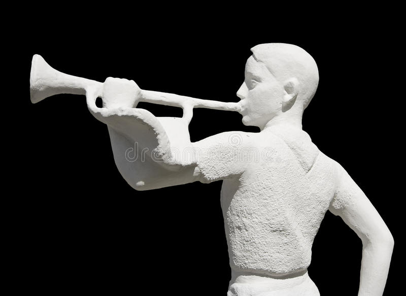 Download Sculpture Of The Pioneer With Clarion Stock Photo - Image of model, white: 13846090