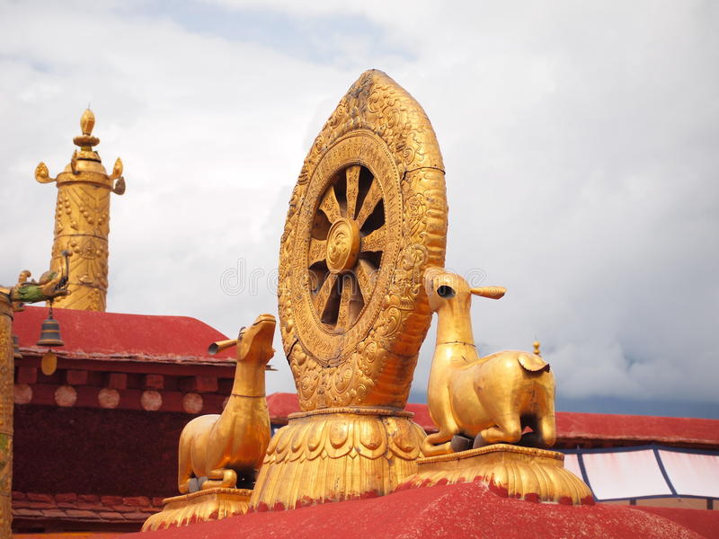 Sculpture In The Potala Palace Stock Photography