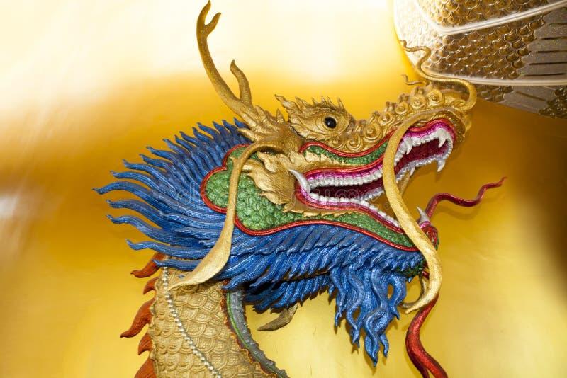 Sculpture principale en dragon photographie stock libre de droits