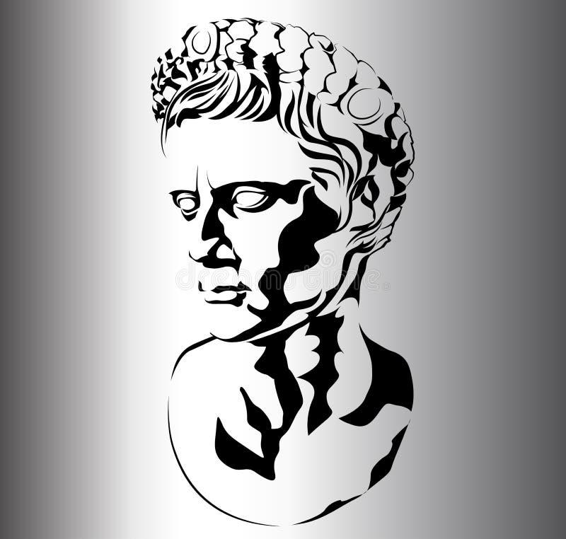 Sculpture romaine illustration libre de droits