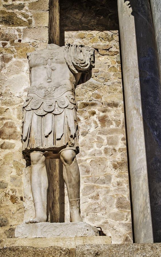 Sculpture romaine en soldat de théâtre photographie stock libre de droits