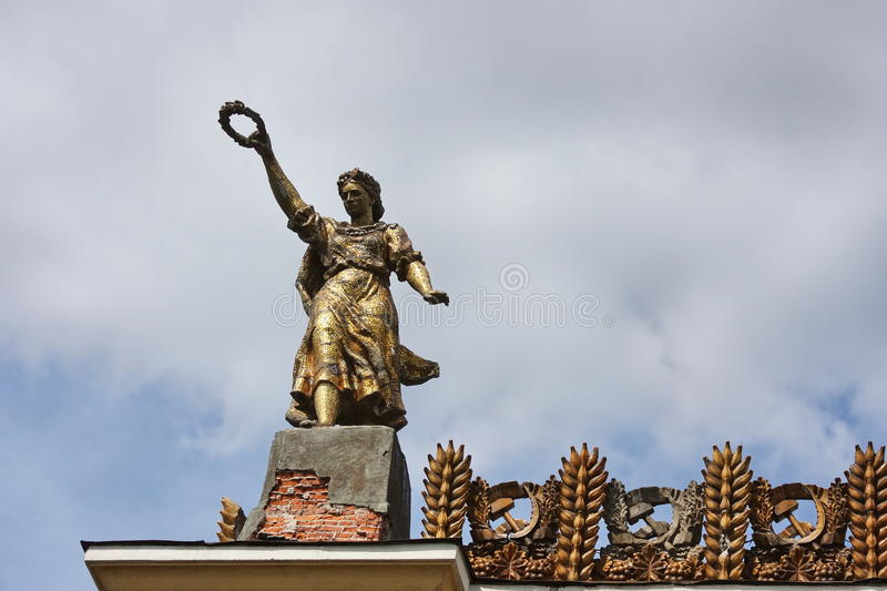 Download Sculpture On The Roof  Of Building Stock Photo - Image of background, roof: 14817190