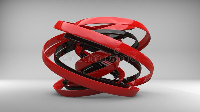 Sculpture rouge et noire en art moderne illustration libre de droits
