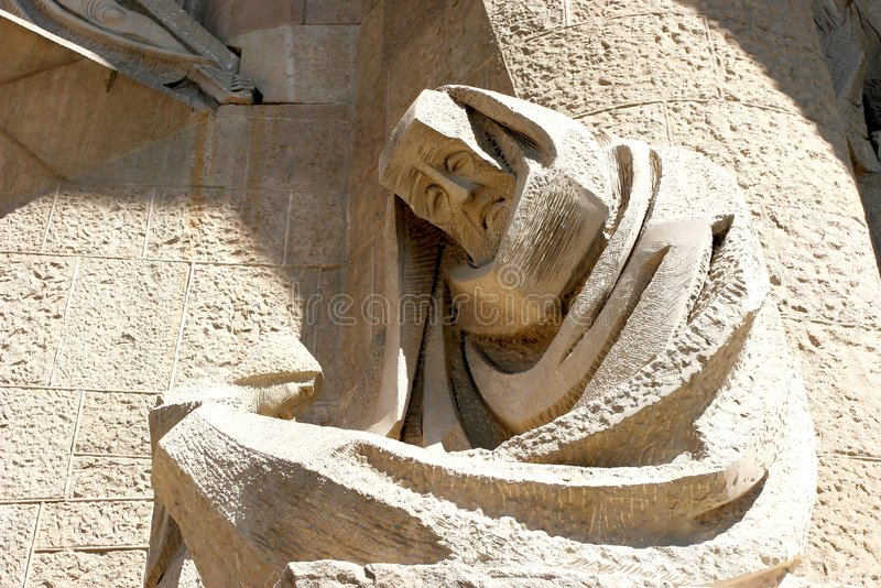 Sculpture on Sagrada Familia royalty free stock photo