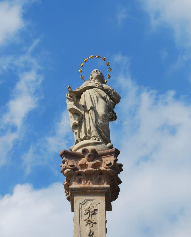 Sculpture of Saint Elizabeth in Godollo stock photos
