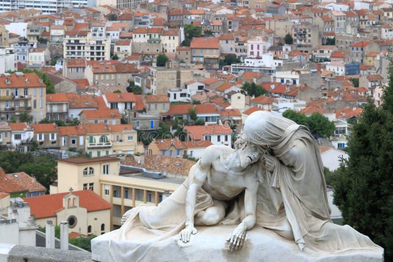 Sculpture sainte près de Notre Dame de la Garde, Marseille, France photo stock