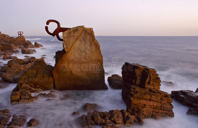 Sculpture in San Sebastian stock photo