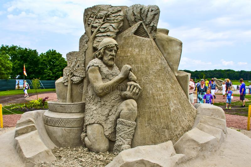 Sculpture, Sand, Monument, Statue stock photography