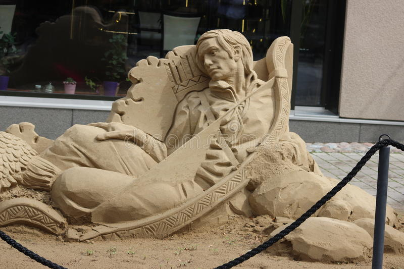 Sculpture of sand stock photography