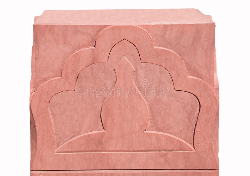 The Sculpture Sandstone Of Pattern India Royalty Free Stock Photo