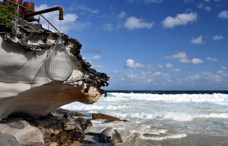 Sculpture by the Sea in Bondi royalty free stock photo