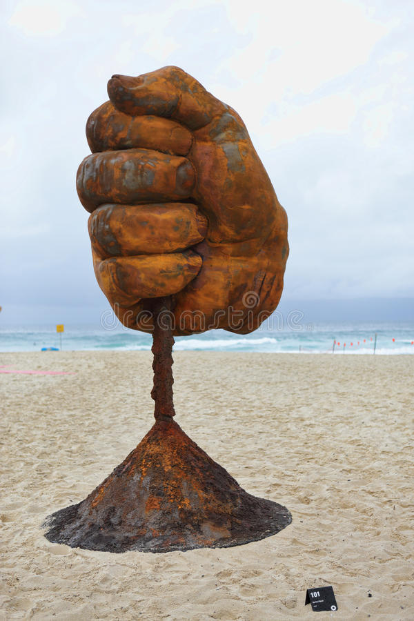 Sculpture by the Sea - Dust stock images