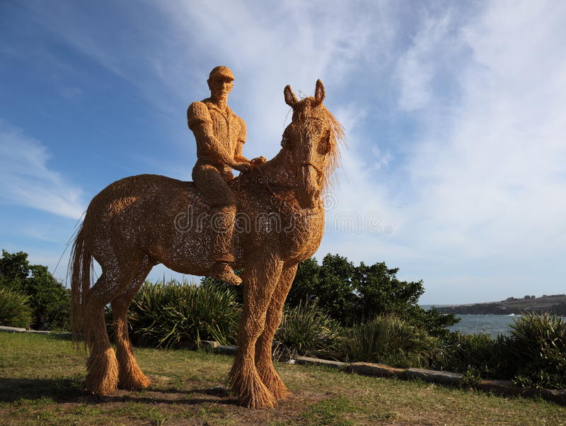 Sculpture by the sea exhibition, Bondi, Australia royalty free stock image