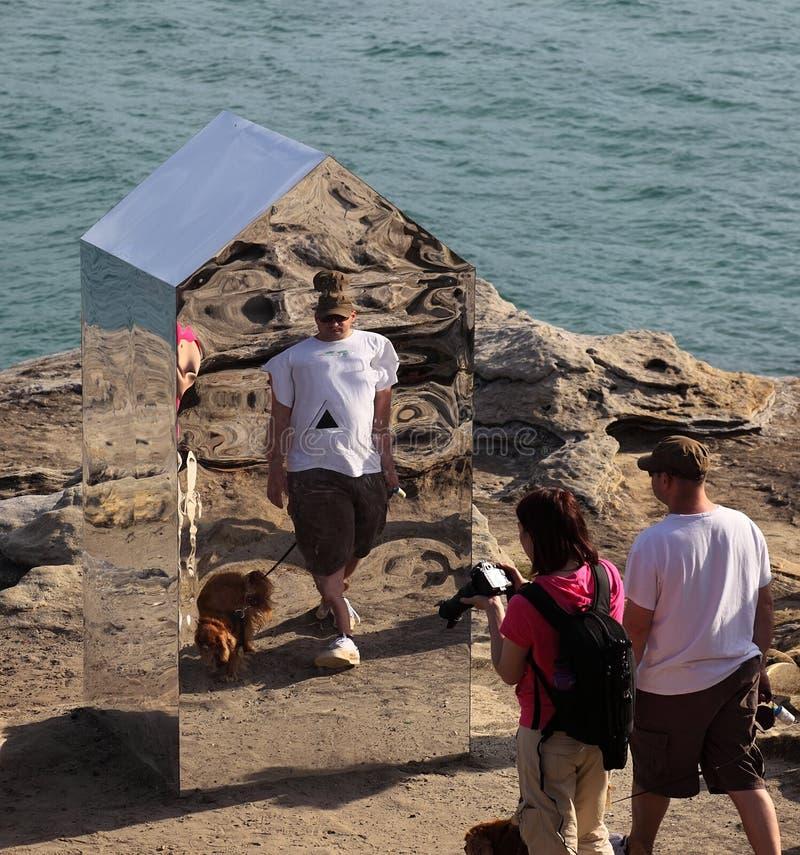 Sculpture by the sea exhibition, Bondi, Australia stock images
