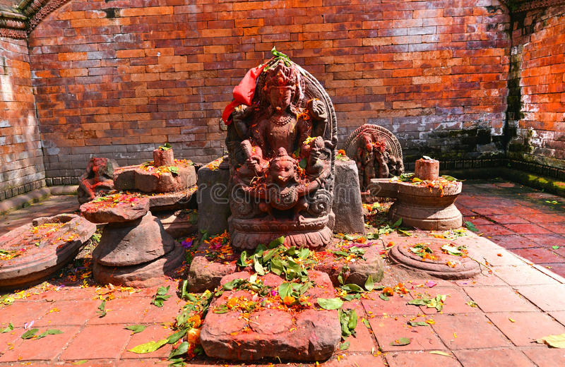 Sculpture of Shiva in Pashupatinath, Nepal. Sculpture of God Shiva the destroyer, in the holy pilgrimage place of Pashupatinath, Nepal stock image