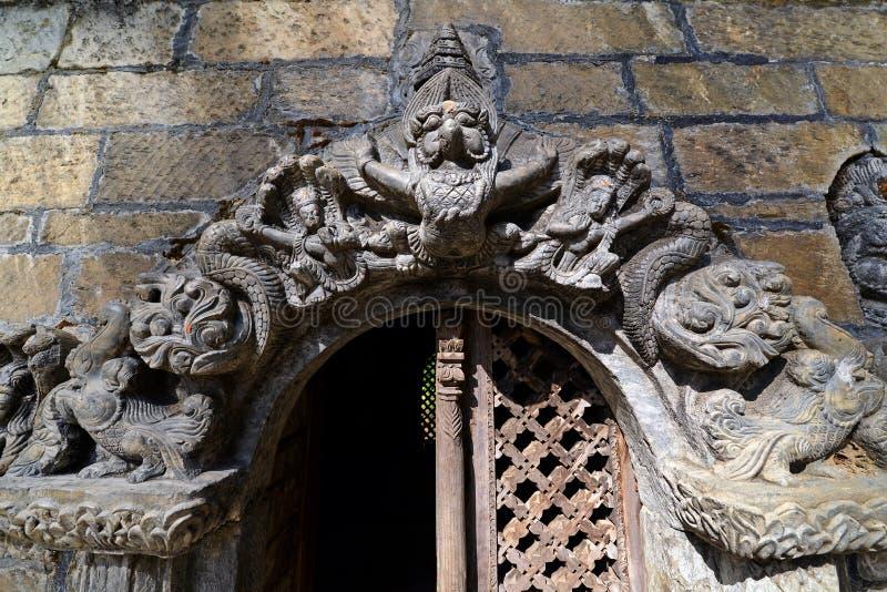 Sculpture of Shiva. Pashupatinath, Nepal. Stone relief, sculpture of Shiva the destroyer in Pashupatinath, Nepal stock image