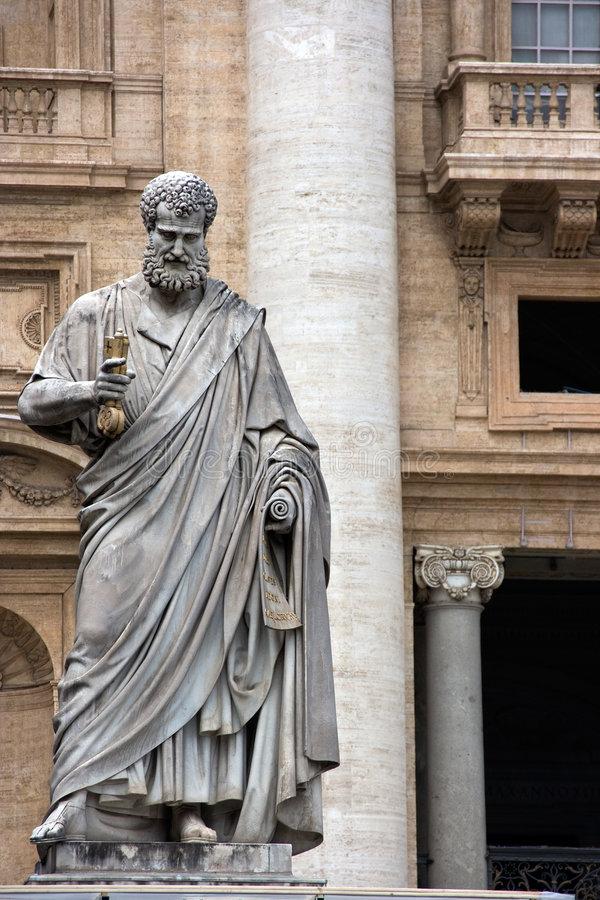 Sculpture of St. Peter. In Vatican. Europe royalty free stock image