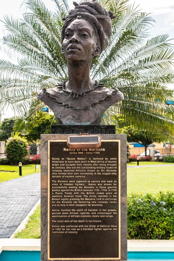 Free Sculpture/Statue Female Jamaican National Hero, Nanny Of The Maroons Royalty Free Stock Photos - 141154128