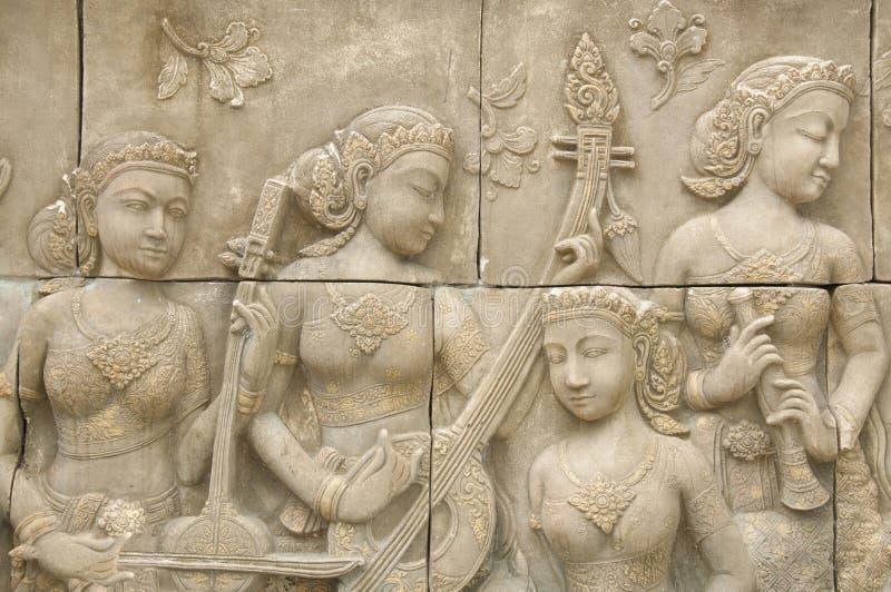 Sculpture stone stock image