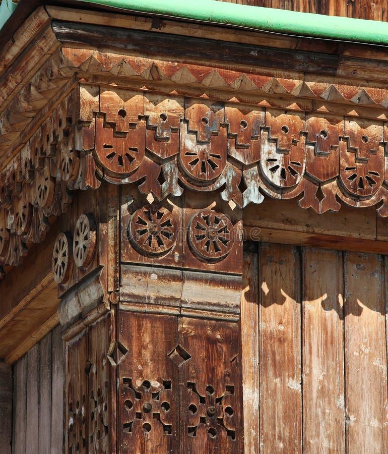 Sculpture sur bois - détail de cathédrale orthodoxe de trinité sainte dans Karak image stock