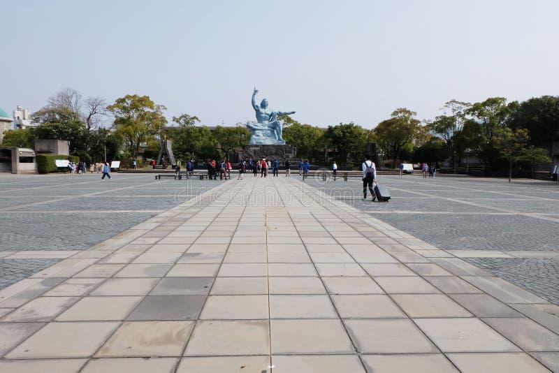 Sculpture sur le parc de paix de Nagasaki, Japon photos stock