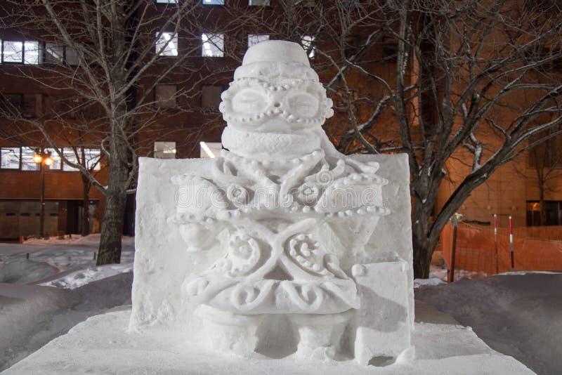 Sculpture sur neige dans le festival de neige de Sapporo images stock