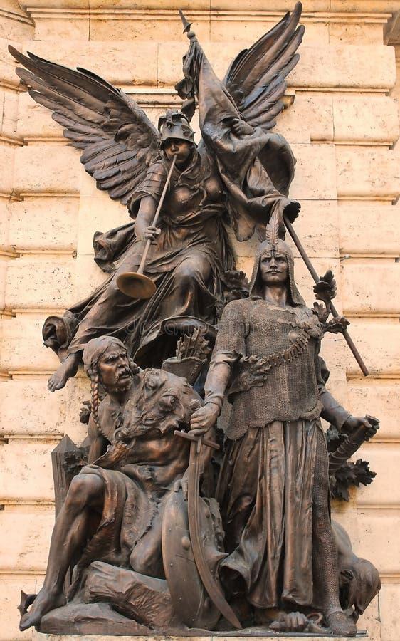 Sculpture symbolizing war royalty free stock images