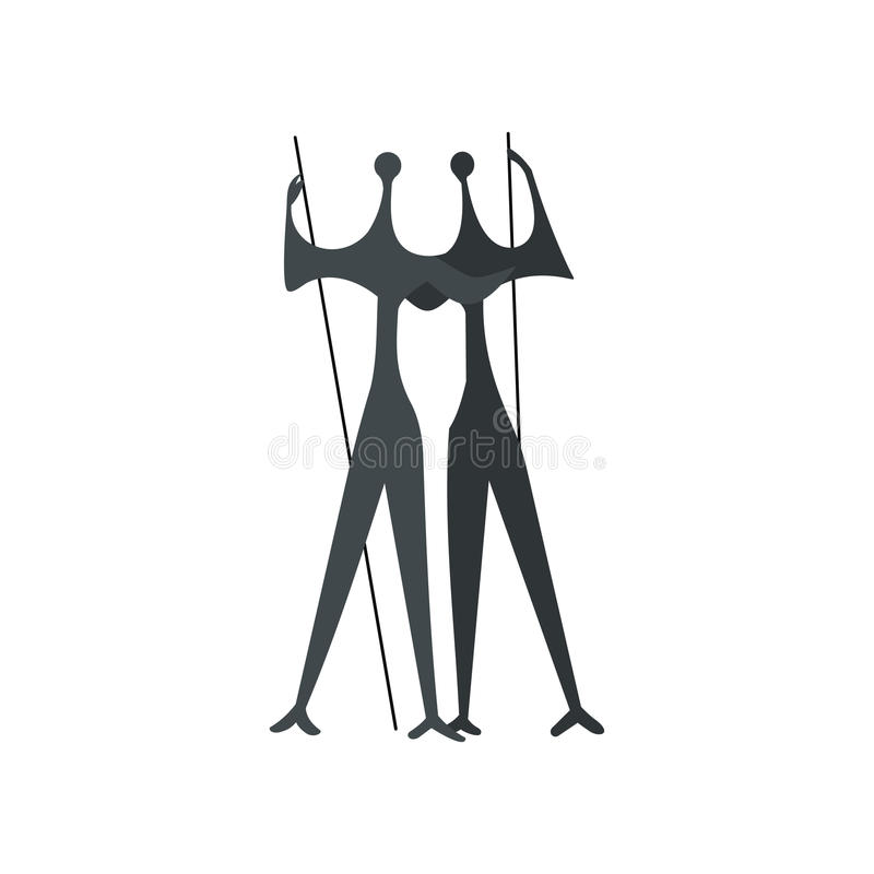 Sculpture of Two Warriors by artist Bruno Giorgi royalty free illustration