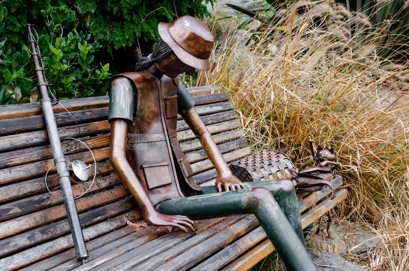 Sculpture urbaine en parc du ` s de Valentino, Turin Italie photographie stock libre de droits