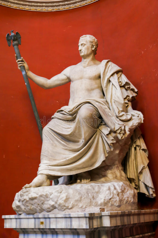Sculpture - Vatican Museum. Arts and Statue at Vatican Museum in Rome, Italy stock image