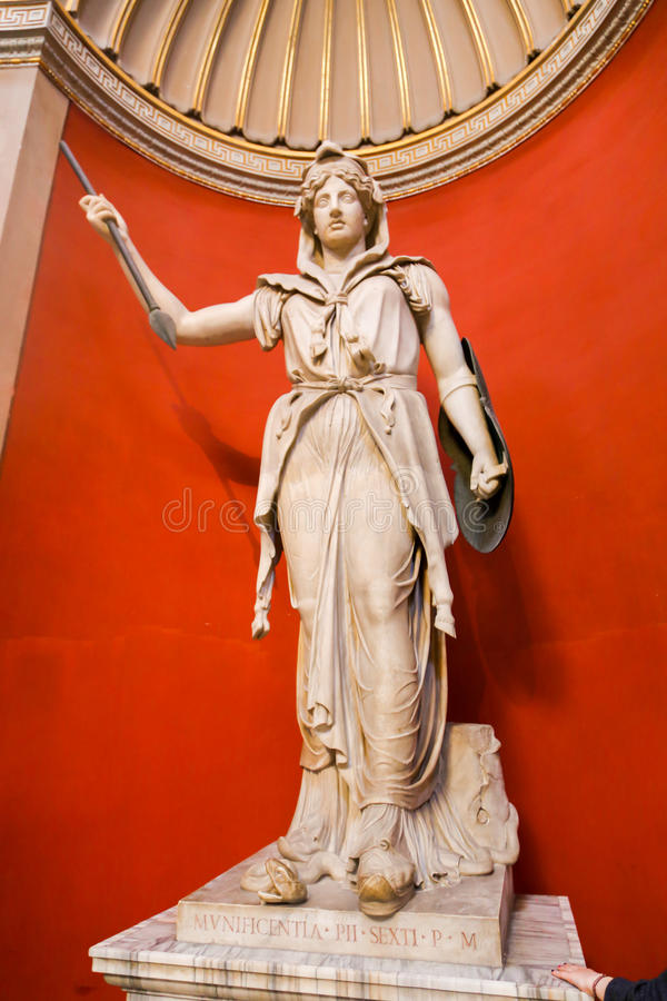 Sculpture - Vatican Museum. Arts and Statue at Vatican Museum in Rome, Italy royalty free stock photo