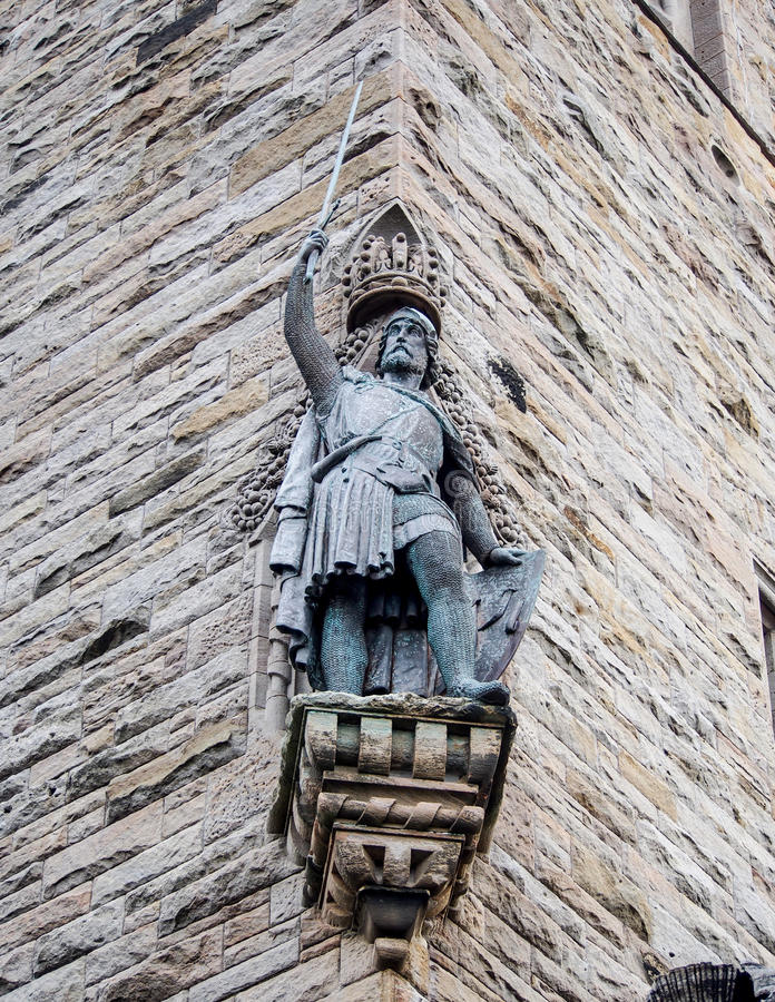 Sculpture of William Wallace, Stirling, Scotland stock photo