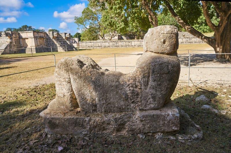 Sculpture Yucatan en Chichen Itza Chac Mool image stock
