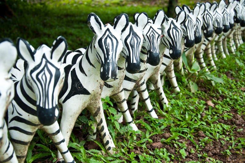 Download Sculpture of zebra stock image. Image of volume, many - 26362975